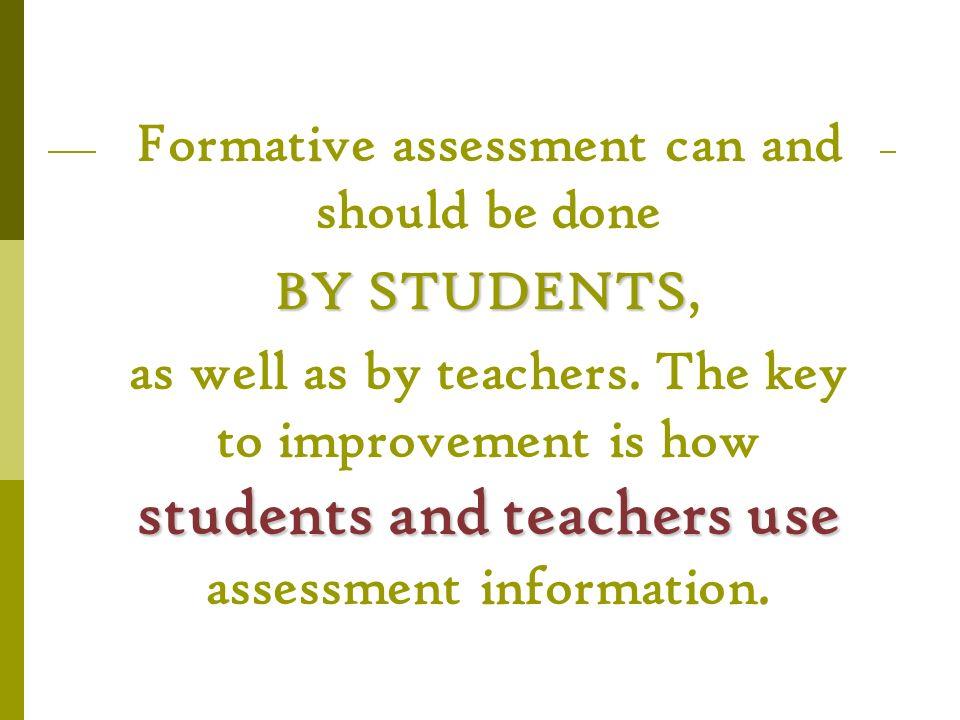 SevenStrategies of Assessment FOR Learning Seven Strategies of Assessment FOR Learning 1.