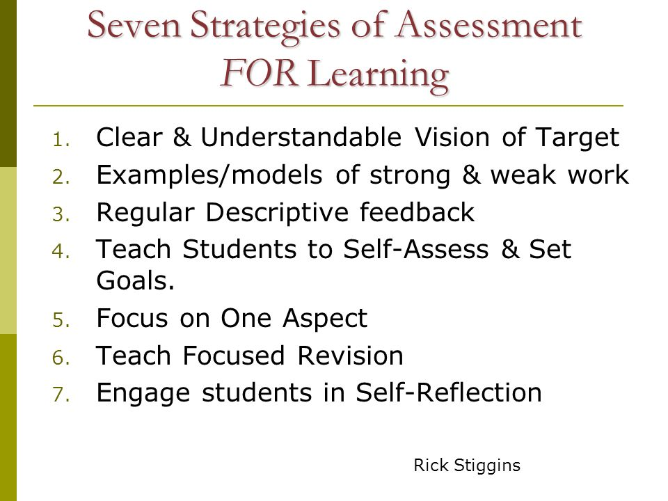 Strategies and Student Questions Know where they are going 1.