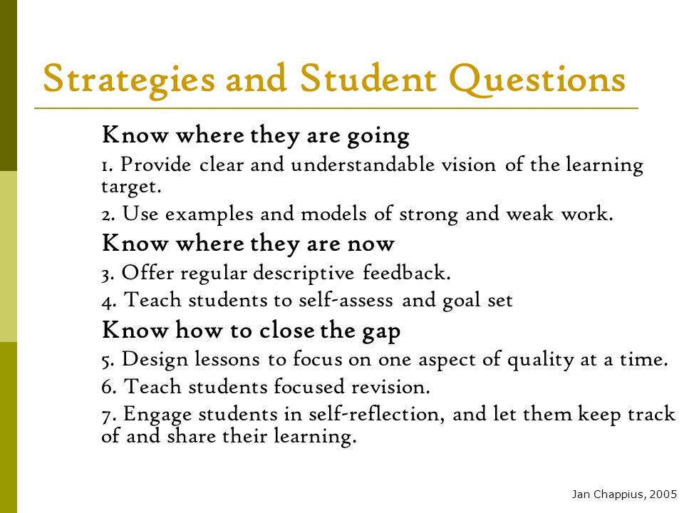 ASSESSMENT PROCESS Student Achievement Learning Target (Followed by direct instruction) Formative Assessment (Assessment FOR Learning) Instructional Decisions Formative Assessment (Assessment FOR Learning) ReteachExtend Learning