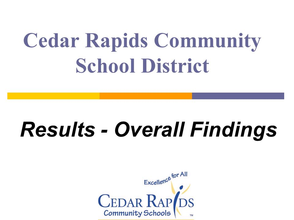 Cedar Rapids Community School District Results - Overall Findings