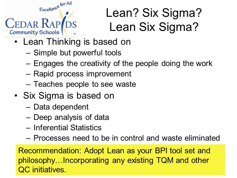 Lean. Six Sigma. Lean Six Sigma.