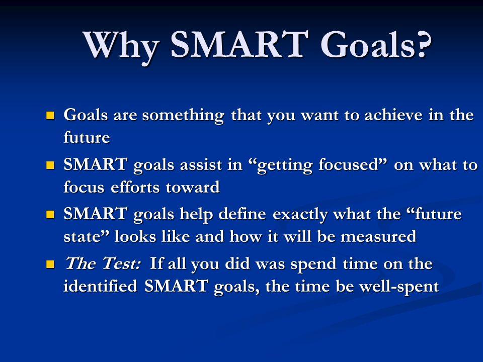 Why SMART Goals.