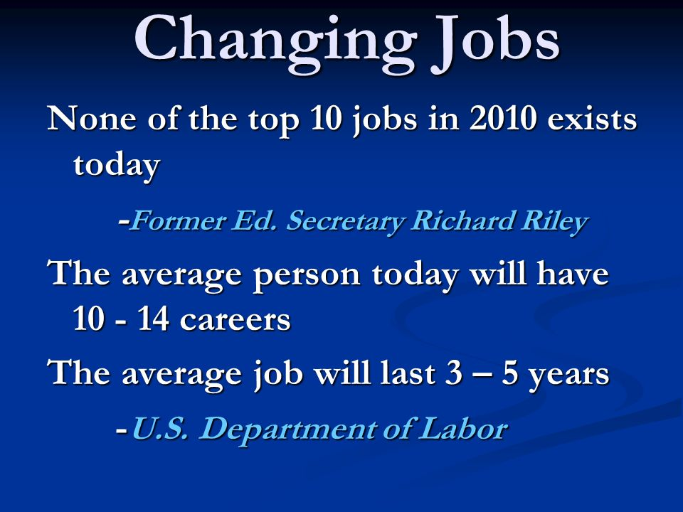 None of the top 10 jobs in 2010 exists today - Former Ed.