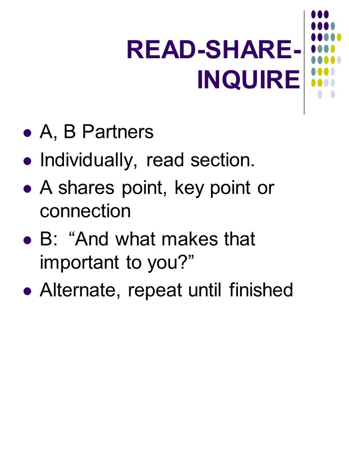 READ-SHARE- INQUIRE A, B Partners Individually, read section.