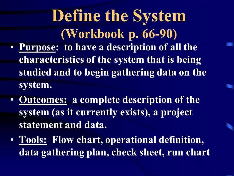 Define the System (Workbook p.