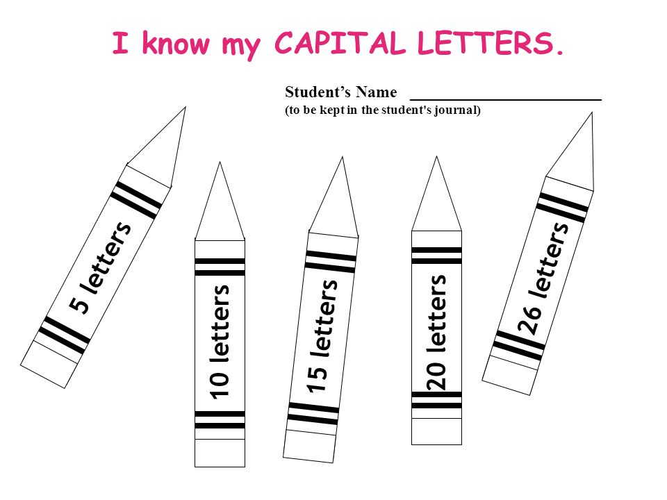 10 letters 20 letters 26 letters I know my CAPITAL LETTERS.