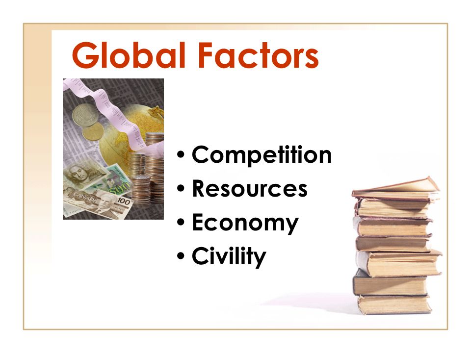 Global Factors Competition Resources Economy Civility