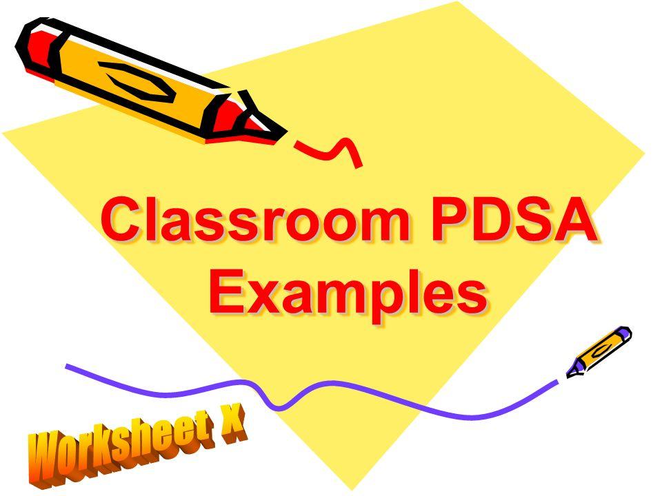 Classroom PDSA Examples