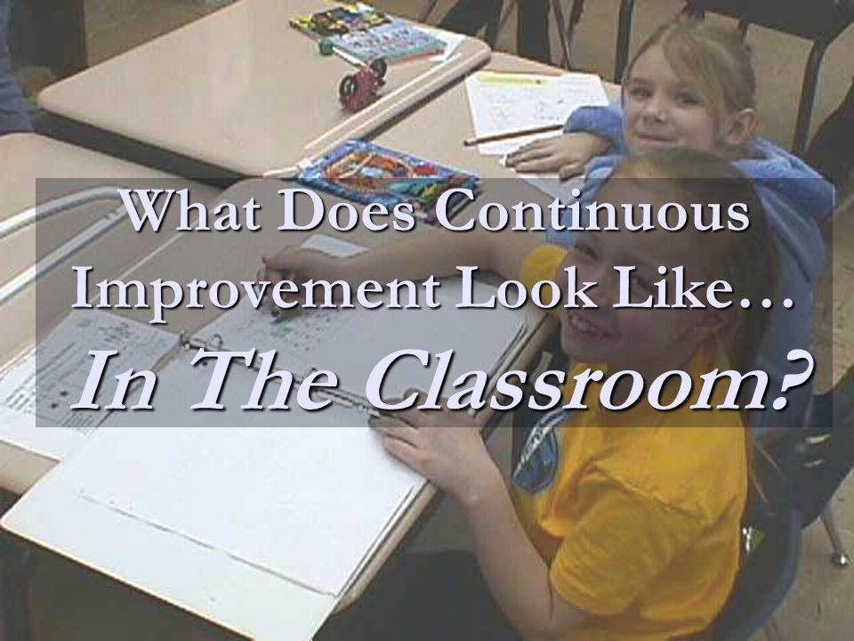 What Does Continuous Improvement Look Like… In The Classroom?