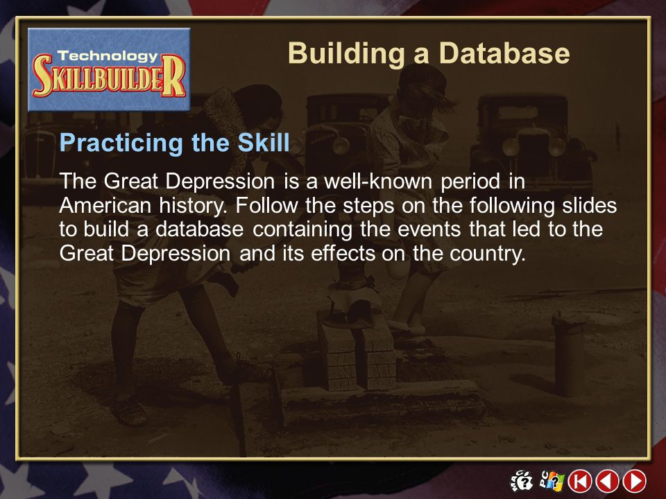TECH Skill Builder 2 Learning the Skill An electronic database is a collection of facts that are stored in a file on a computer. The information is or