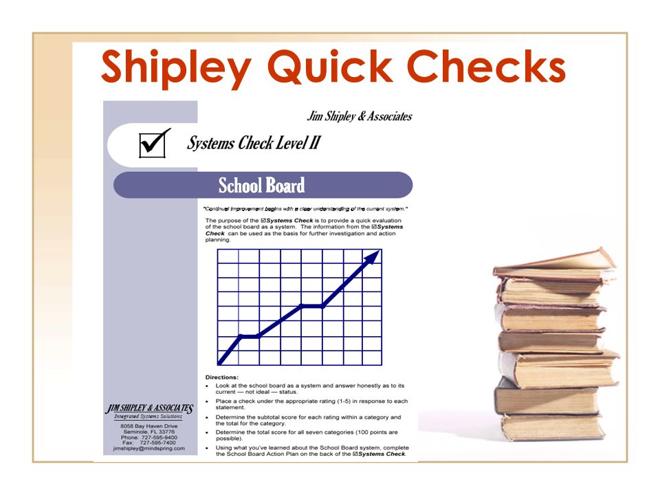 Shipley Quick Checks