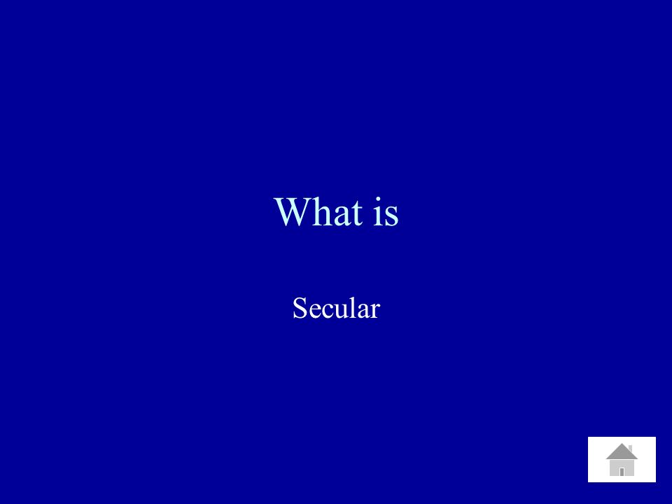 What is Secular
