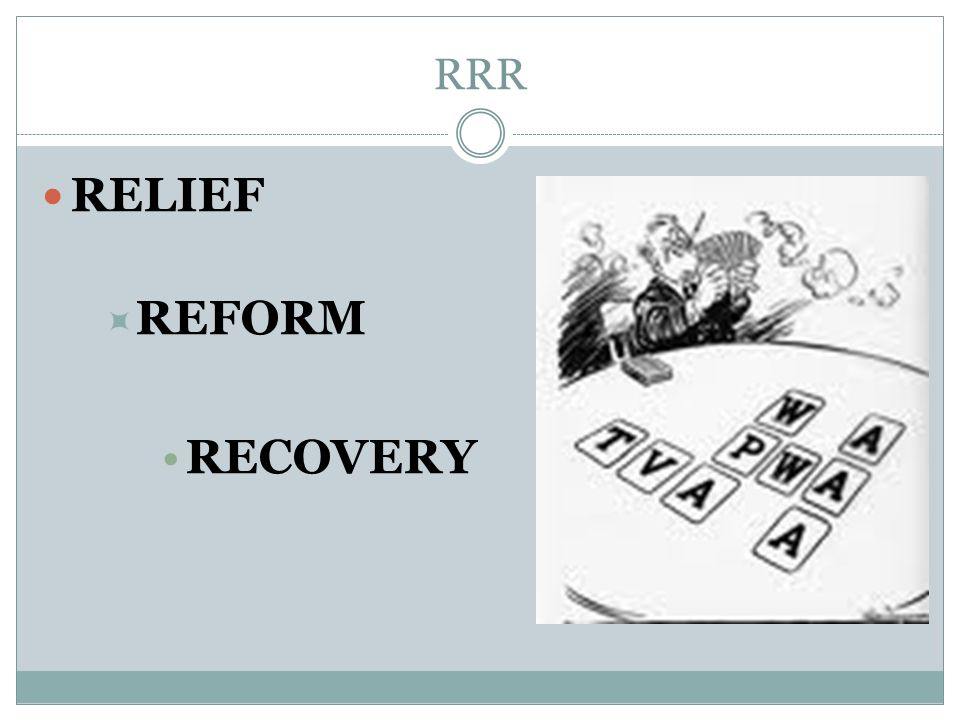RRR RELIEF REFORM RECOVERY