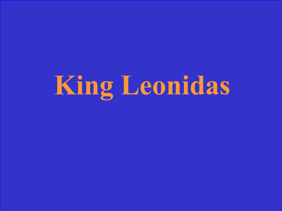 This Spartan king fought at Thermopylae
