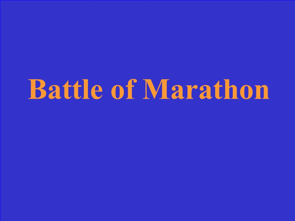 At which battle did the Greeks send a runner to warn Athens of the approaching Persians.
