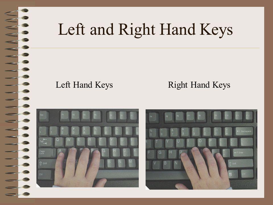 Left and Right Hand Keys Left Hand KeysRight Hand Keys