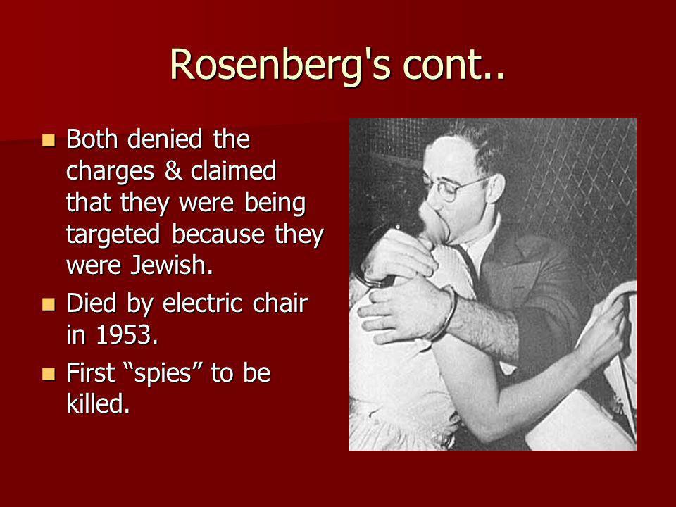 Rosenberg s cont..