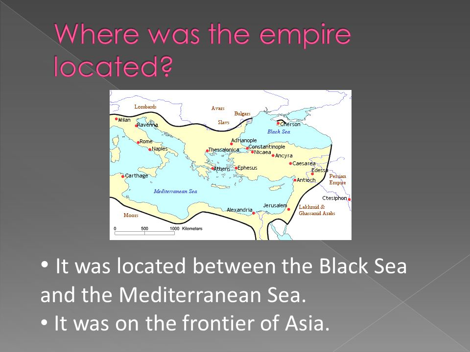 It was located between the Black Sea and the Mediterranean Sea. It was on the frontier of Asia.