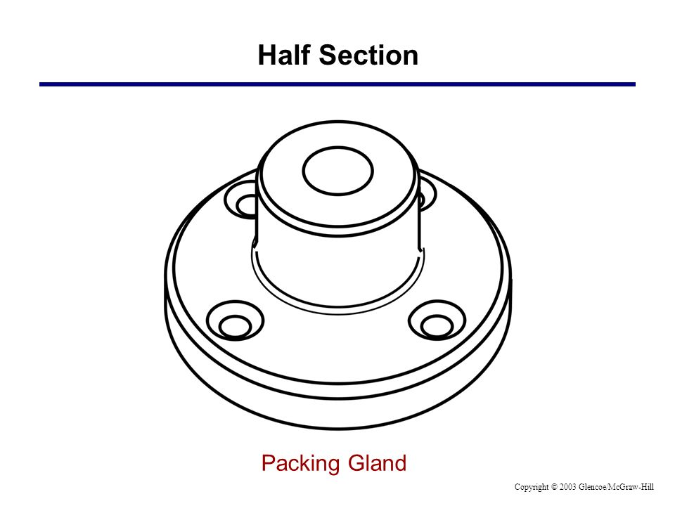 Half Section Packing Gland Copyright © 2003 Glencoe/McGraw-Hill