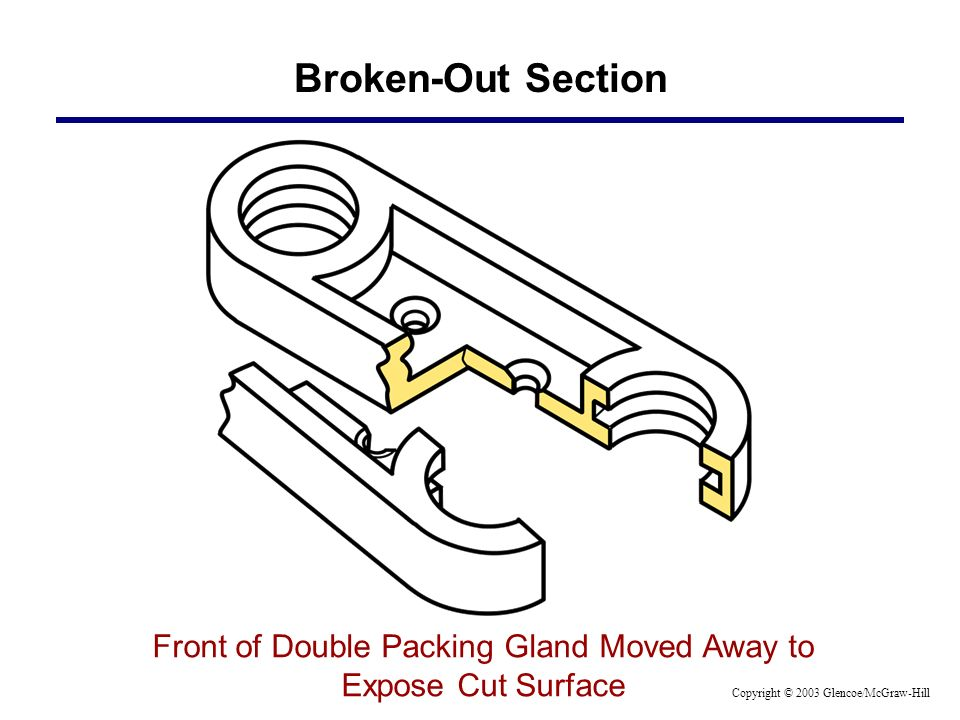 Broken-Out Section Front of Double Packing Gland Moved Away to Expose Cut Surface Copyright © 2003 Glencoe/McGraw-Hill