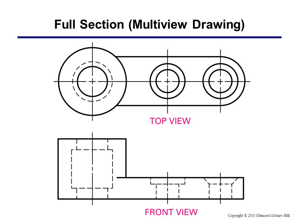 Full Section (Multiview Drawing) Copyright © 2003 Glencoe/McGraw-Hill