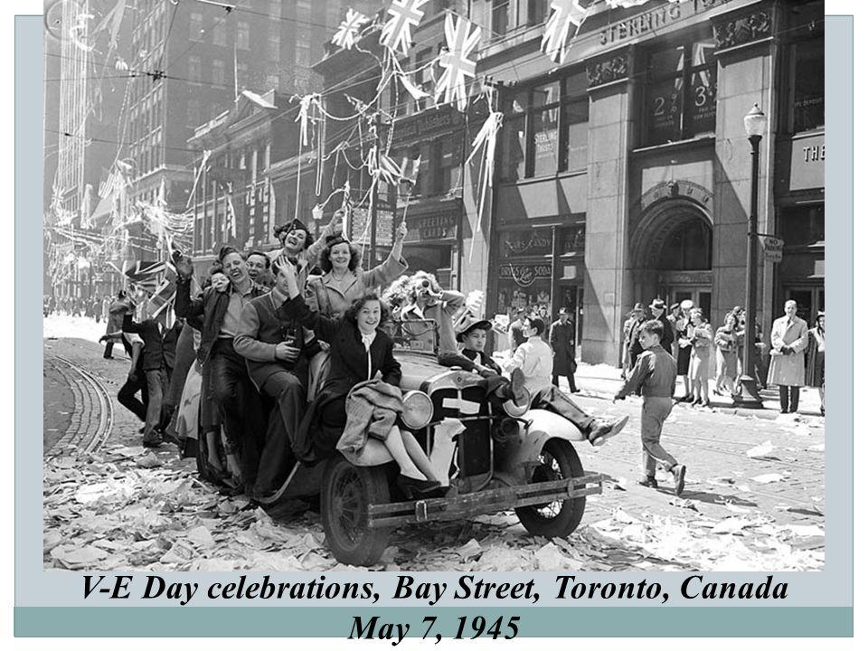 V-E Day celebrations, Bay Street, Toronto, Canada May 7, 1945
