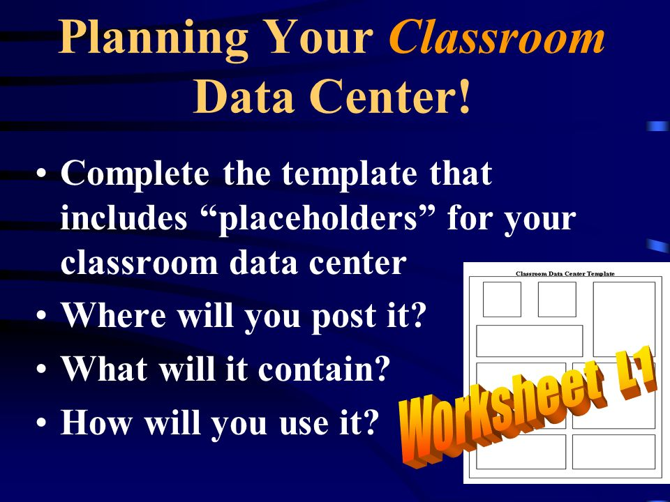 Planning Your Classroom Data Center.