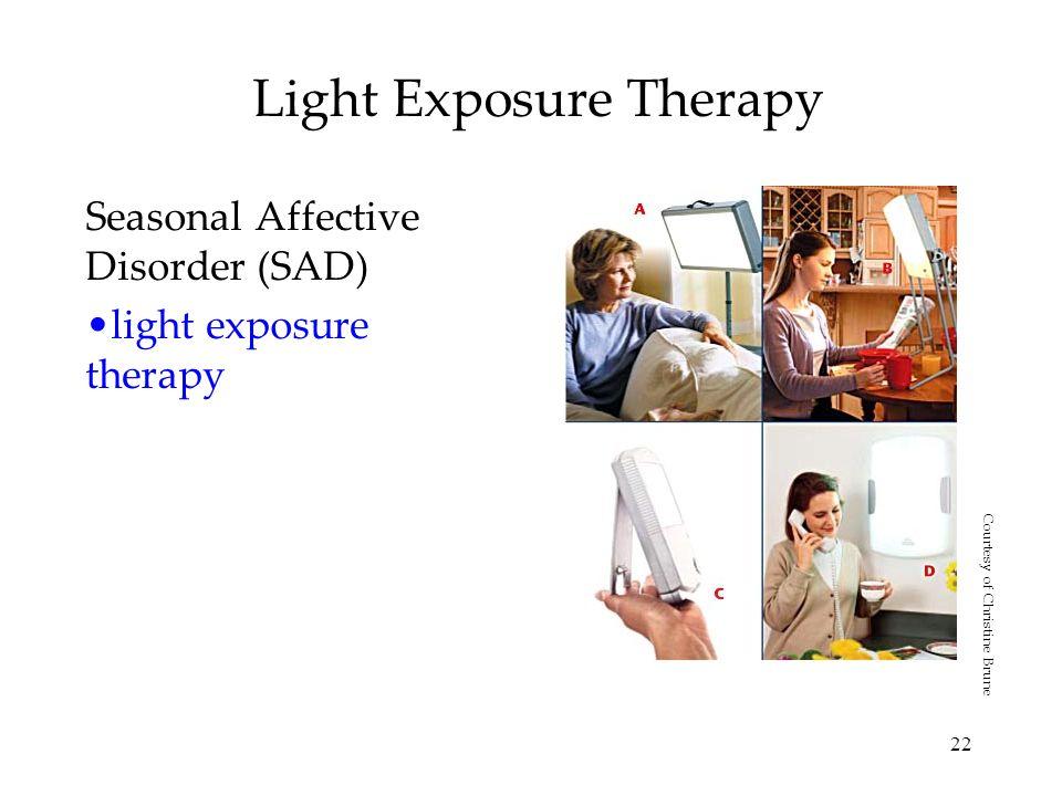 22 Light Exposure Therapy Seasonal Affective Disorder (SAD) light exposure therapy Courtesy of Christine Brune