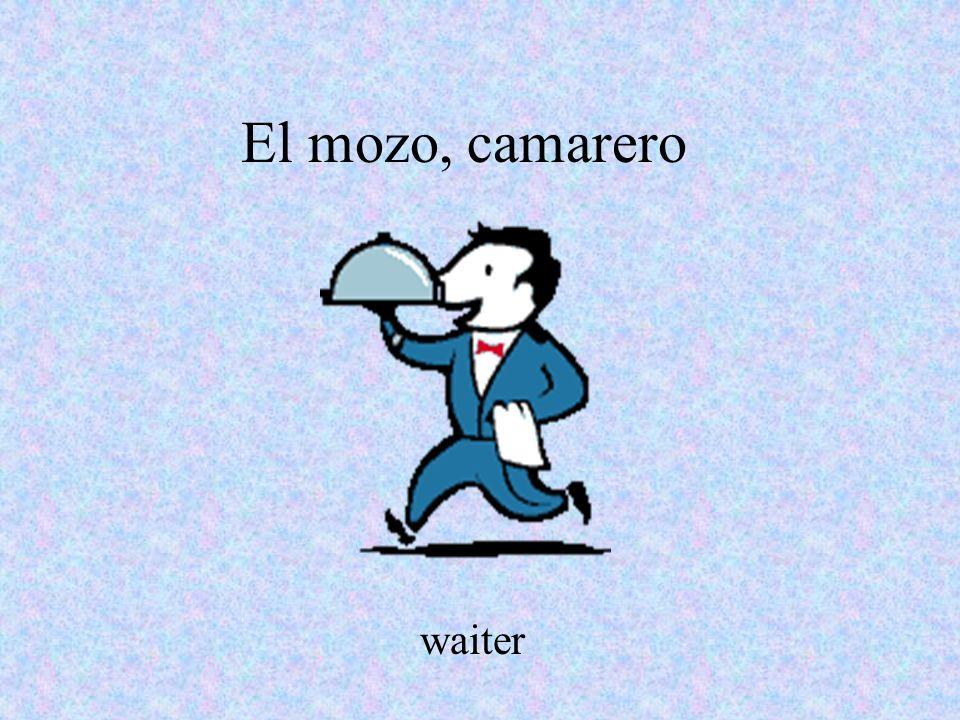 El mozo, camarero waiter