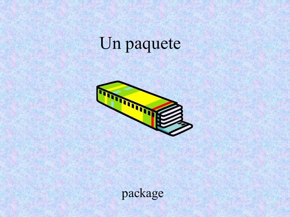 Un paquete package