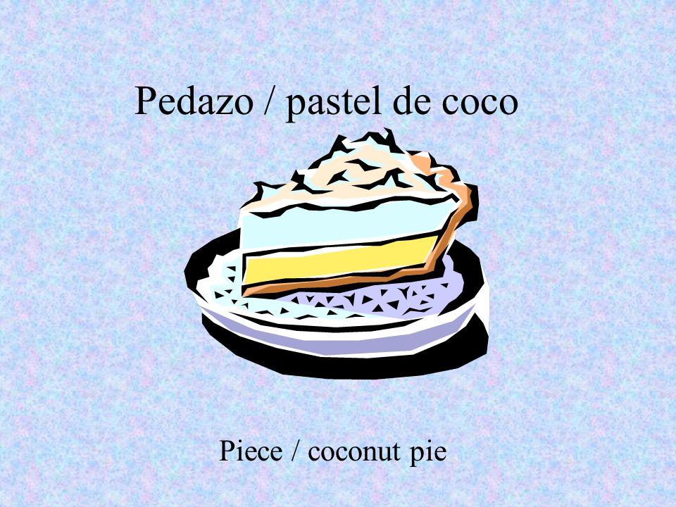 Pedazo / pastel de coco Piece / coconut pie