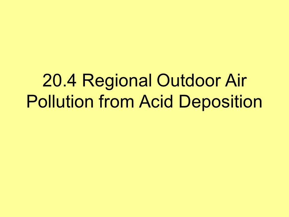 20.4 Regional Outdoor Air Pollution from Acid Deposition