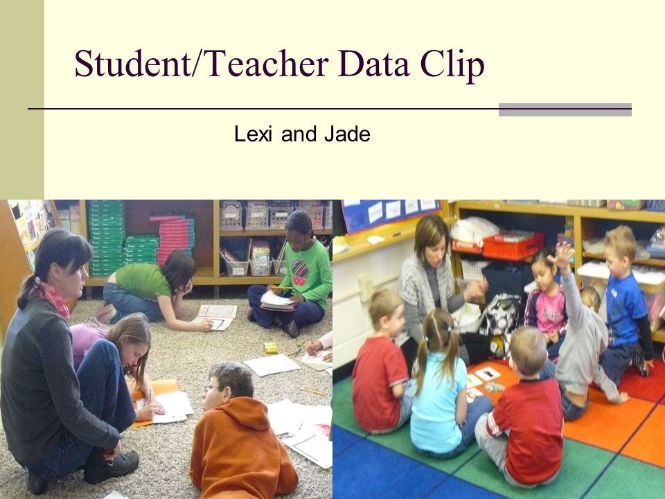 Student/Teacher Data Clip Lexi and Jade