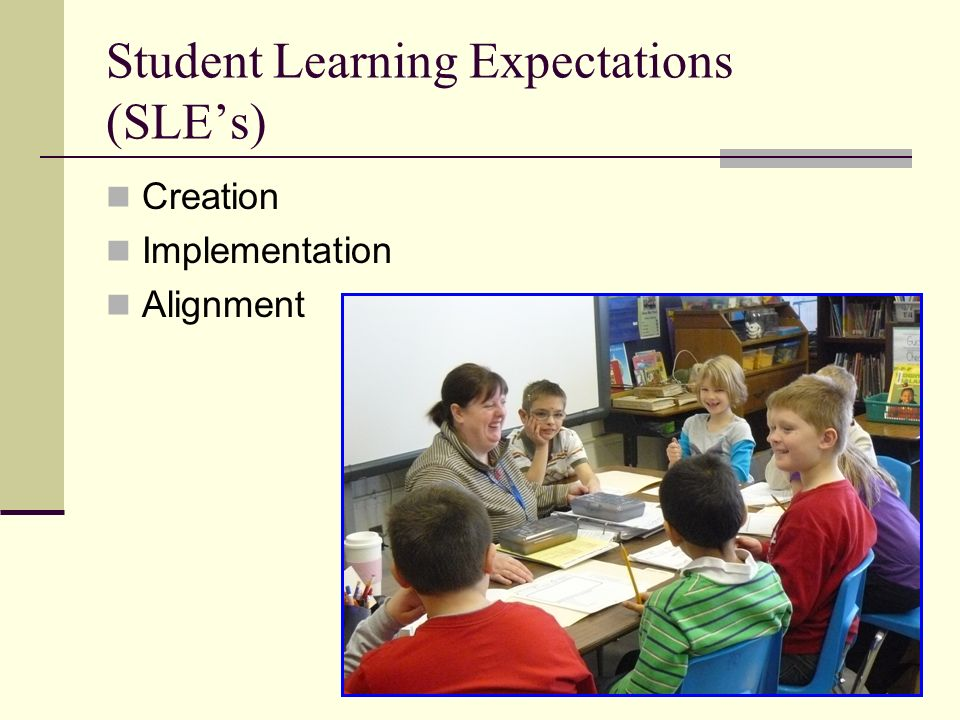 Student Learning Expectations (SLEs) Creation Implementation Alignment