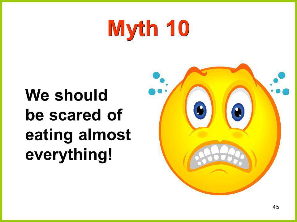 45 Myth 10 We should be scared of eating almost everything!