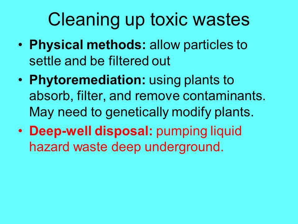 Look how much plants can get rid of!!! Radioactive contaminants - ie: Strontium-90, Cesium-137 Organic contaminants - ie: gasoline, oil. etc. Inorgani