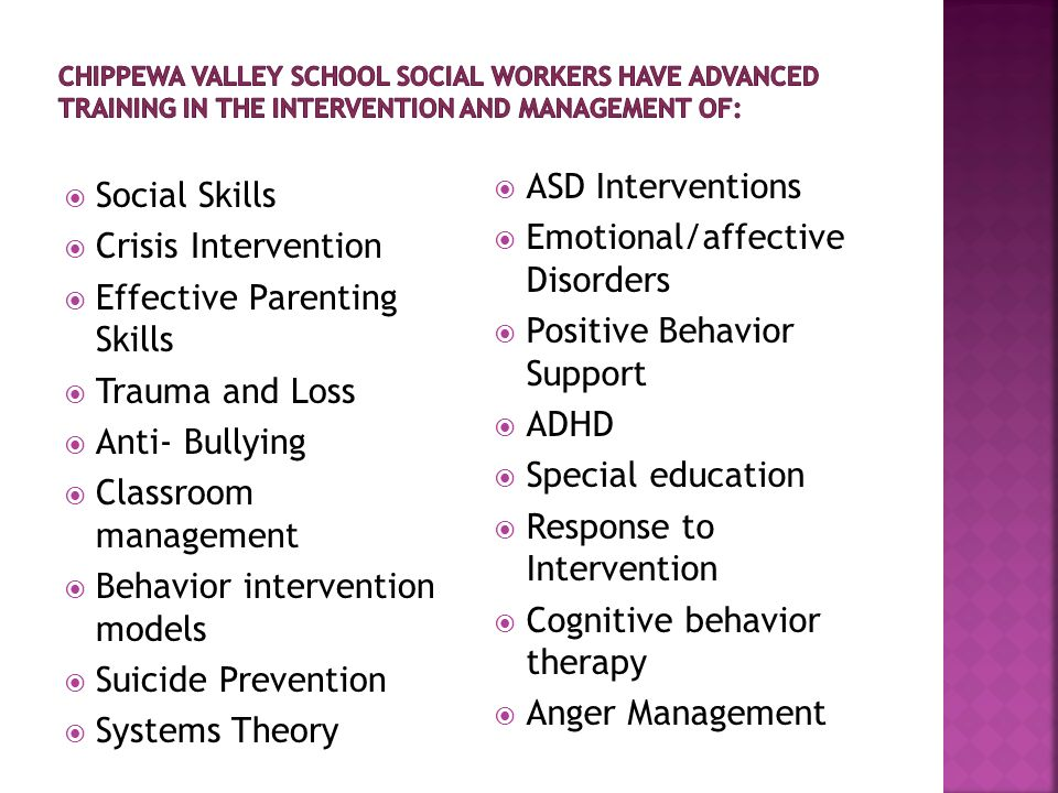 Provide individual and group counseling regarding students social, emotional, and behavioral status impacting learning, development, mental health, and school success Provide and interpret assessments and evaluations to determine eligibility for 504 Plans, special education, and identify needs for programs and services in order to provide legally mandated services via the Special Education and Child Find laws Identify and coordinate accommodations and modifications of school environment for a student to obtain access to general education curriculum and instruction Develop functional behavior assessments and behavior intervention plans to facilitate successful learning and socialization opportunities Develop PBS plans and programming to ensure maximum learning potential for all students Understand a childs developmental and educational needs, to effectively advocate for their child in school, and to understand special education services