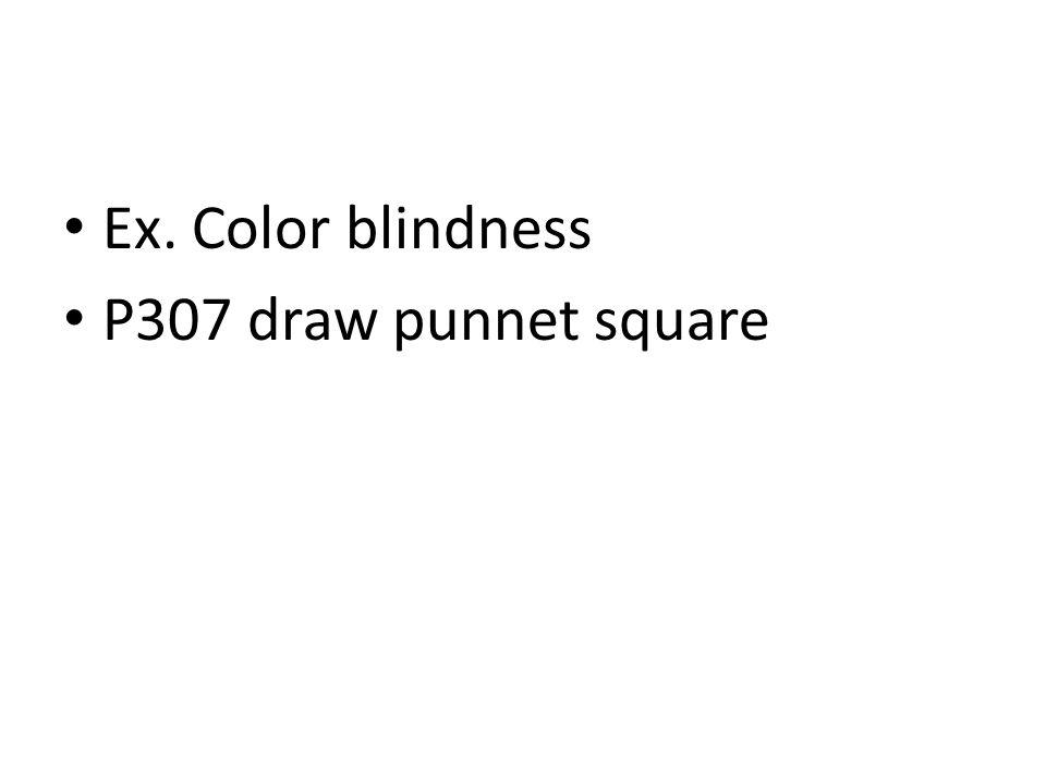 Ex. Color blindness P307 draw punnet square