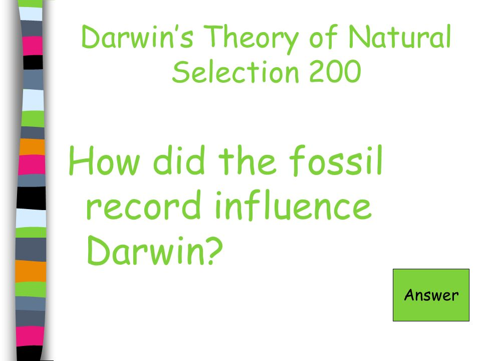 History of the Earth 300 - Answer Radiometric Dating Game Board