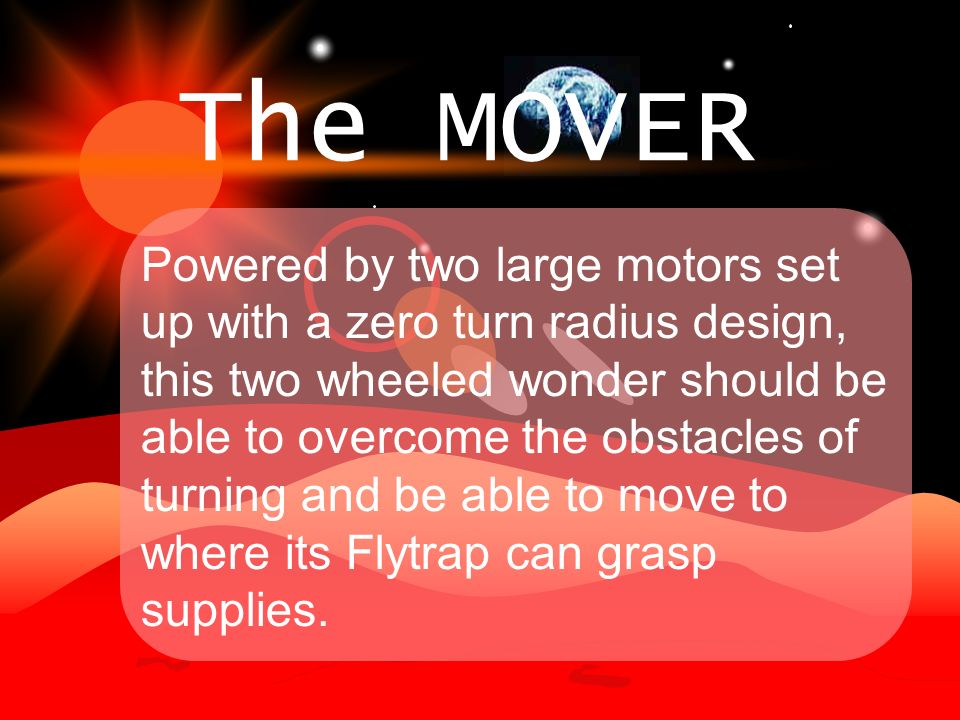 The MOVER is Copernicorps first space transport that has been able to go farther than the moon.