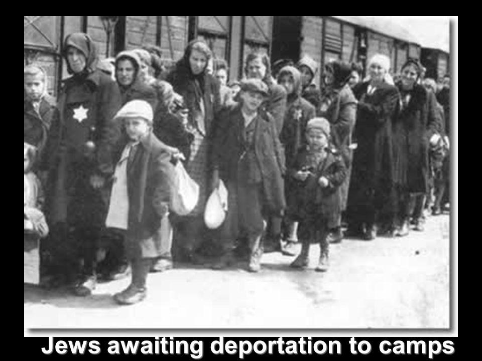 Jews awaiting deportation to camps