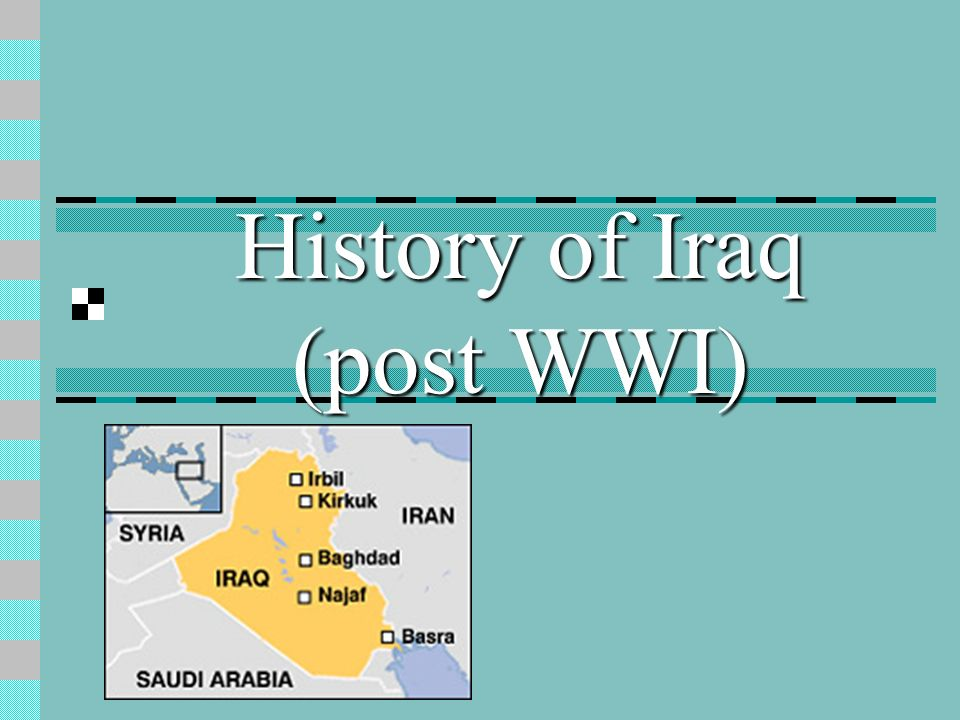 History of Iraq (post WWI)