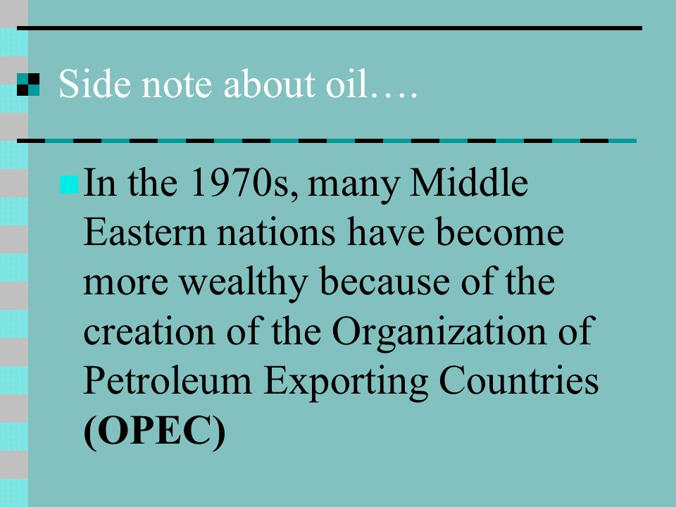 Side note about oil….