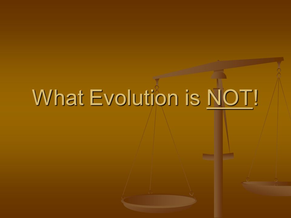 What Evolution is NOT!