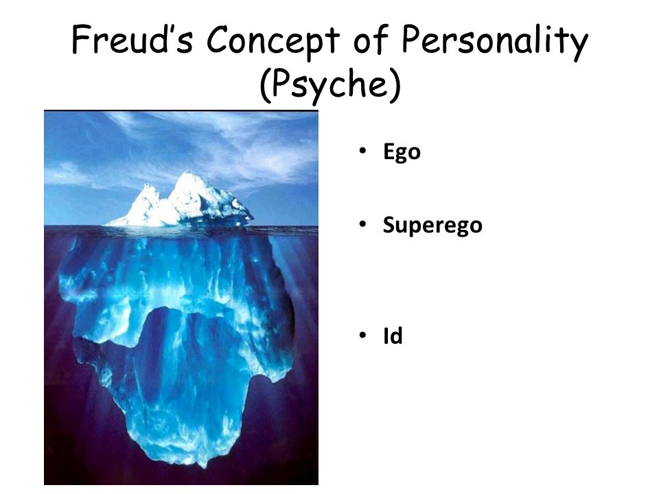 Freuds Concept of Personality (Psyche) Ego Superego Id