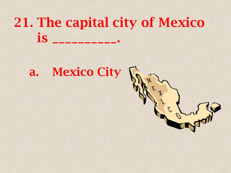 20. Which of the following is not a symbol of Mexico? a.b. c.d.