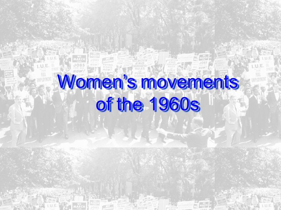 Womens movements of the 1960s