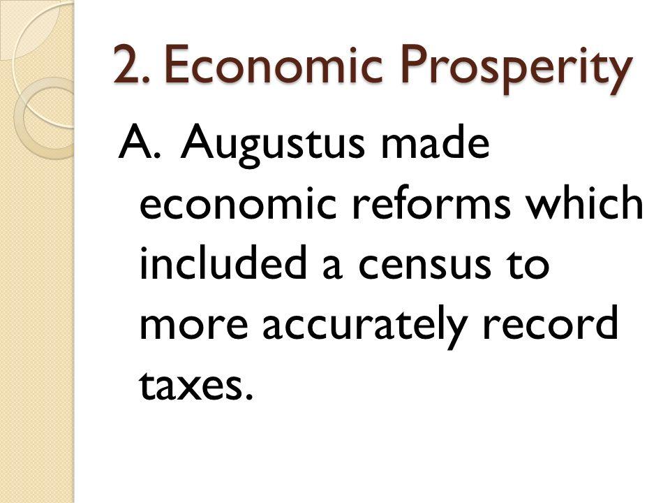 2. Economic Prosperity A.