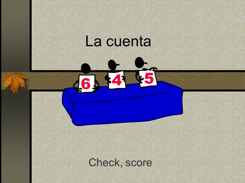 La cuenta Check, score