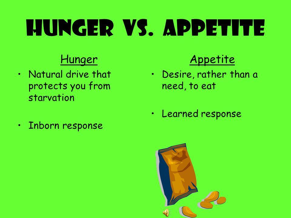 Hunger VS.